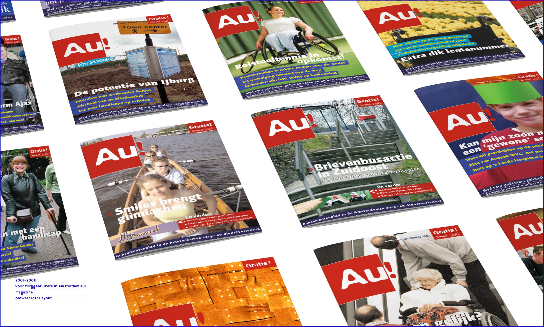 covers maandblad 'Au!'