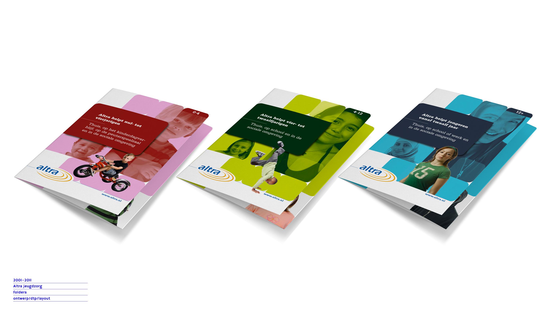 folders voor stichting altra jeugdzorg