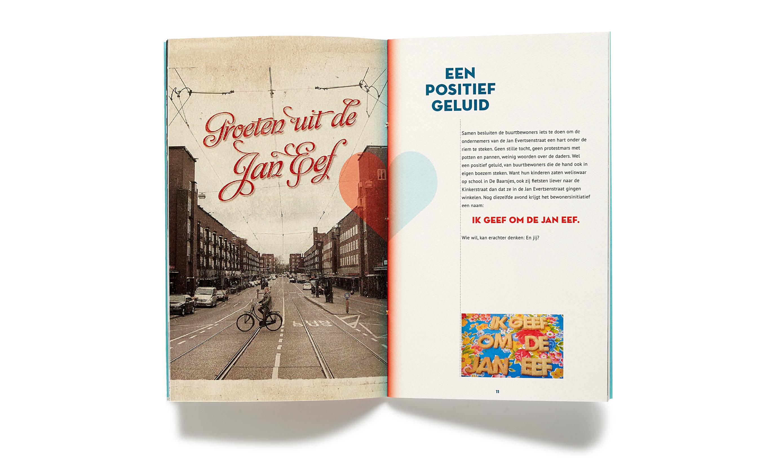 pagina's uit jubileumboek voor winkelstraatvereniging Jan Eef