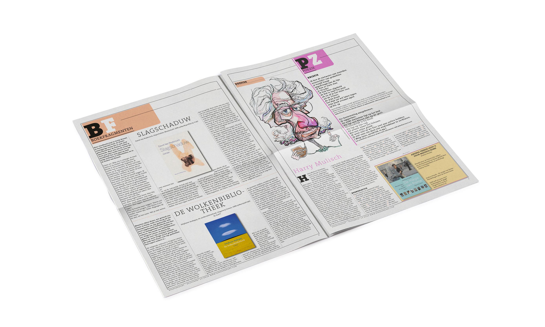 pagina's uit boekpromotie blad 'de boekenkrant'